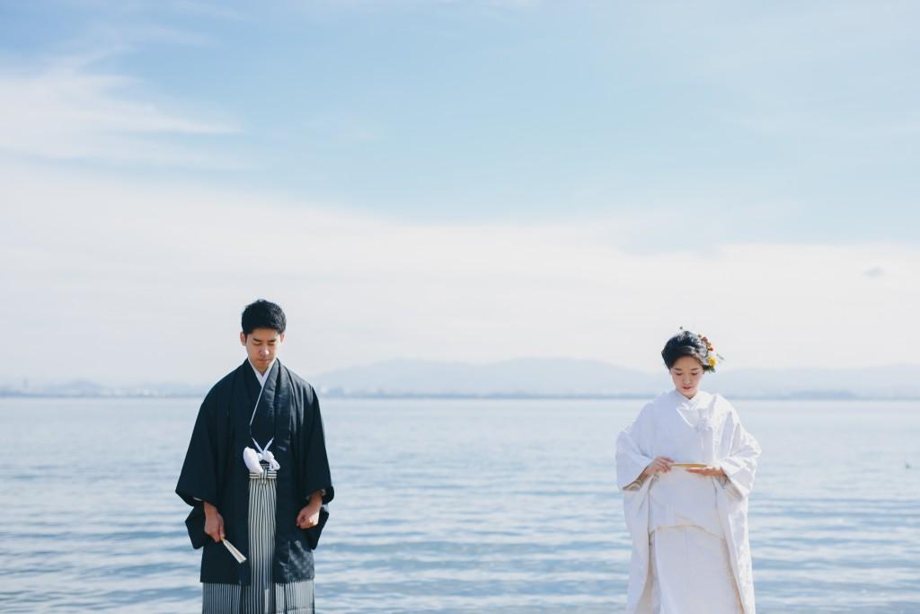 琵琶湖 お辞儀